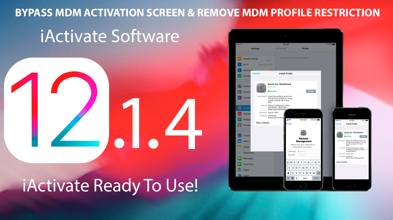 Bypass MDM Lock on iOS 12 1 4 via iActivate Software