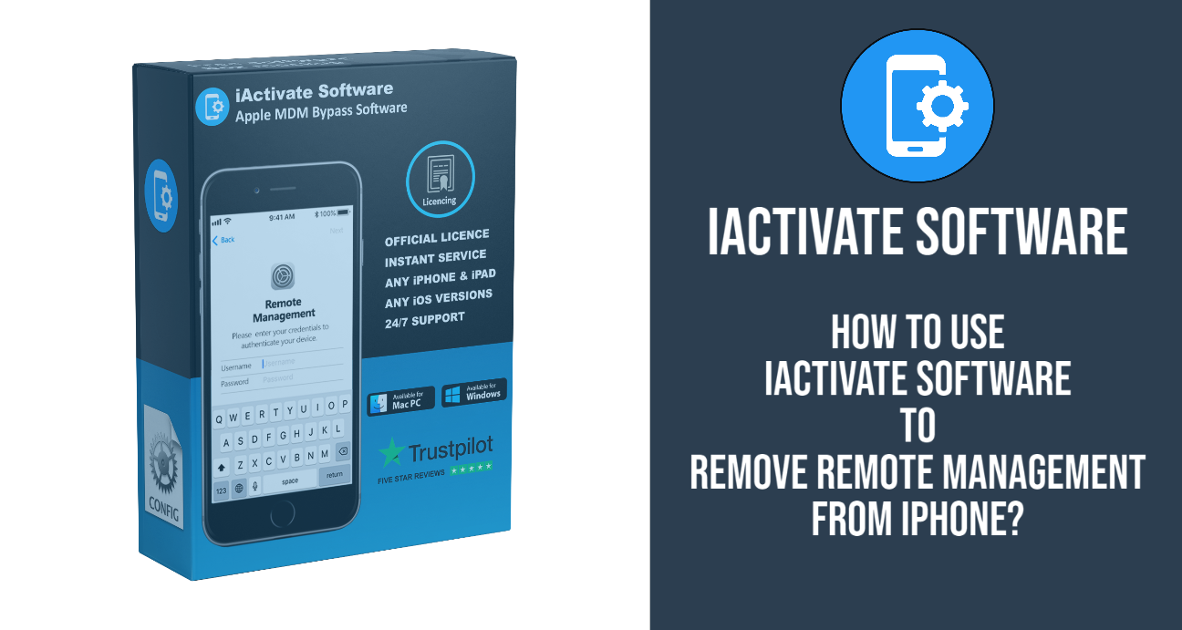 How to Use iActivate Software to remove Remote Management from iPhone?