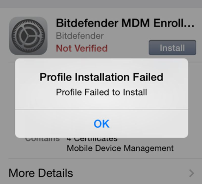 MDM Profile on iPhone