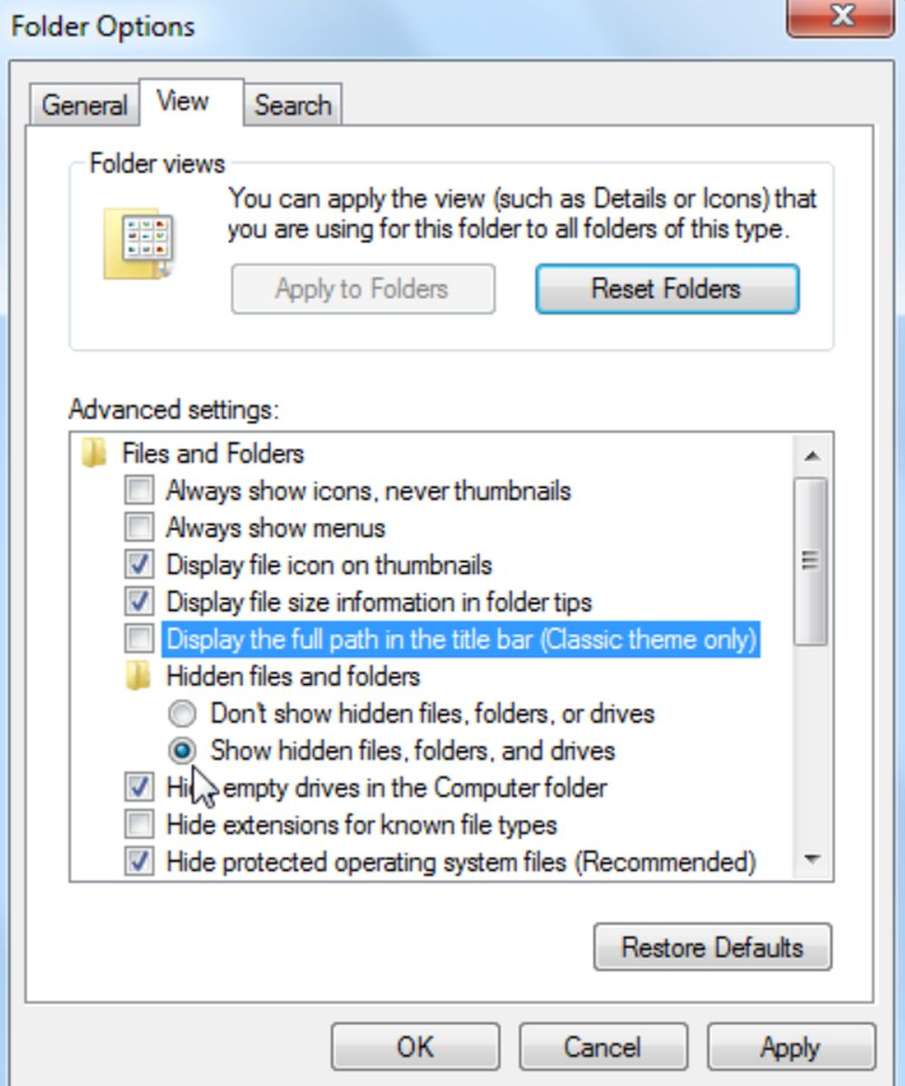 Show All Folders and Files on Windows PC