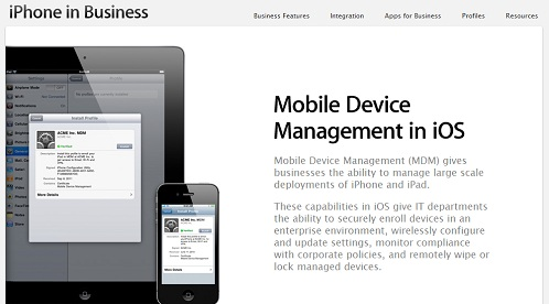 What is Apple iOS MDM (Mobile Device Management)