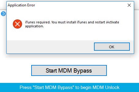 iActivate Application error