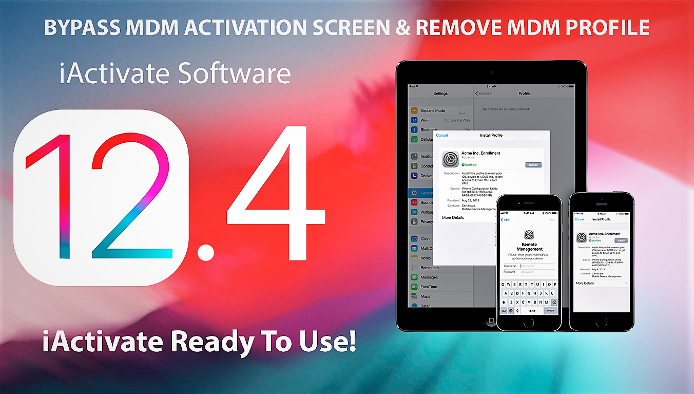 iActivate: Apple MDM Bypass Software
