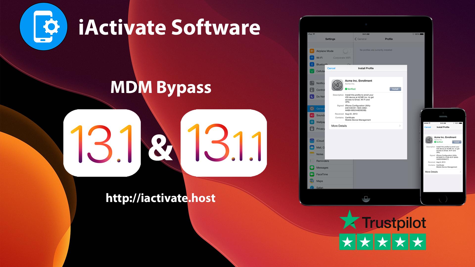 Bypass MDM iOS 13.1, iOS 13.1.1, iOS 13.1.2
