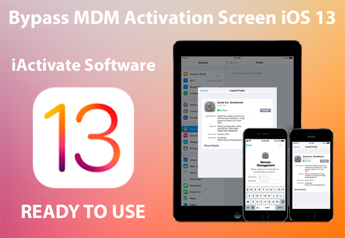 iOS 13 MDM Bypass with iActivate