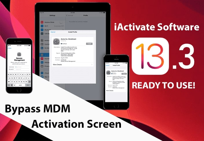 Bypass MDM lock screen on Apple devices running iOS 13.3