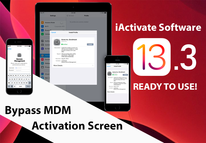 Bypass MDM lock on iOS 13.3 - iActivate