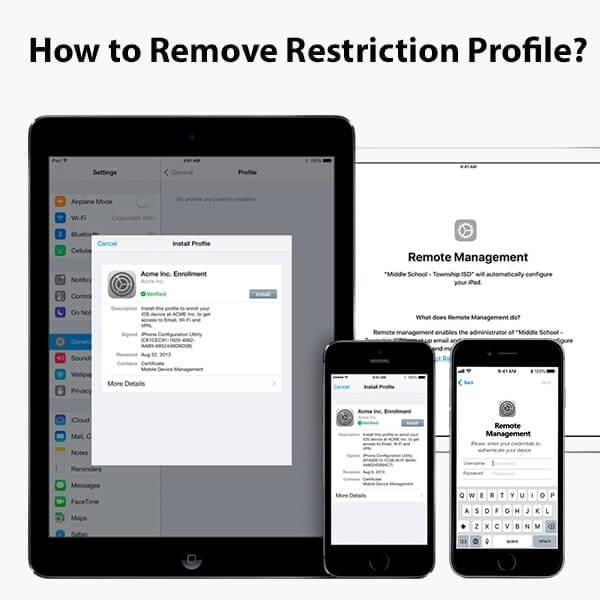 How to remove (delete) restriction profile on iPhone & iPad?