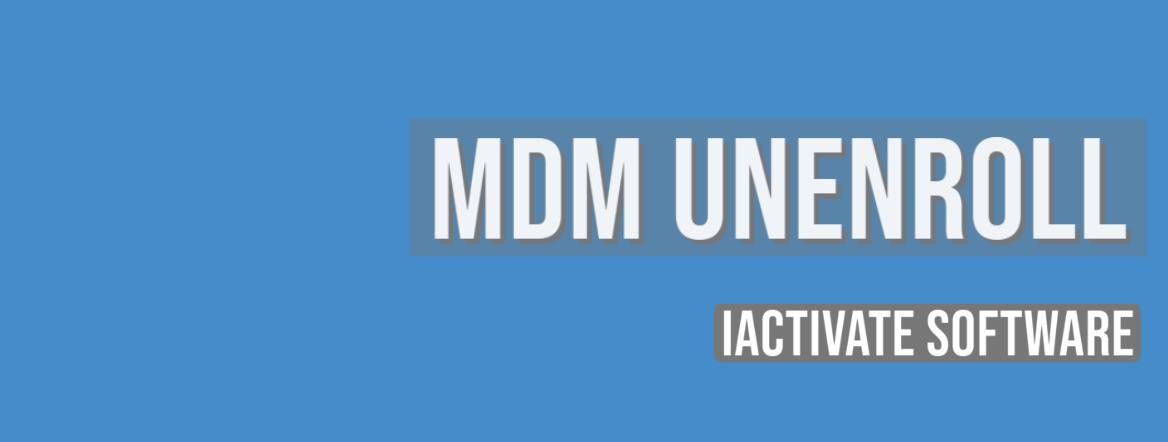 Solved: MDM Unenroll